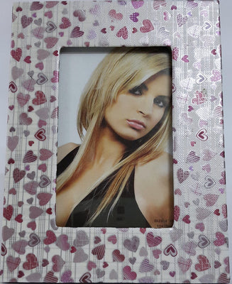 Photo Frame PU Leather 4X6 inch little Hearts Pattern - Photo Frames - SharePyar