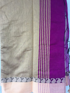 Pink Mixed Silk Cotton Saree - Sarees - SharePyar