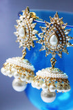 Polki Pearl Traditional Jhumka - SharePyar - 1