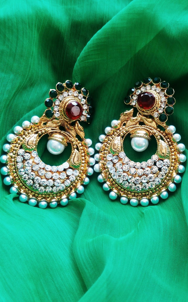 Bollywood Inspired Ramleela Style Earrings - Jewellery - SharePyar