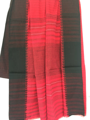 Red cotton Saree - Sarees - SharePyar