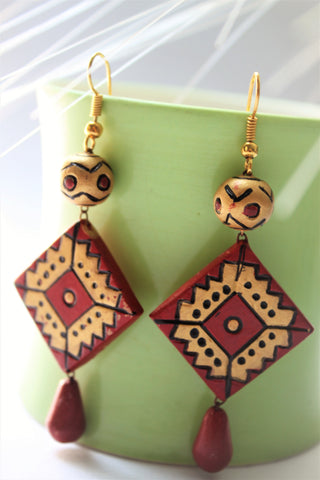 Casual Terracotta Dangle Earrings