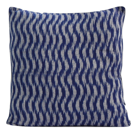 SharePyar Handloom Ikat Cushion Cover 16 x 16 Inch - Set of Two - Cushion Covers - SharePyar