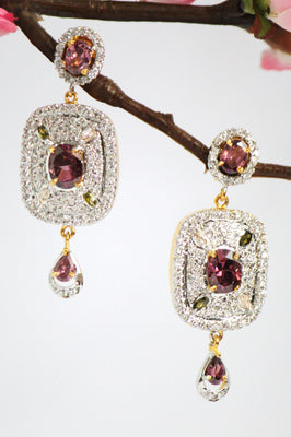 Sparkling American Diamond Dangle Earrings - Jewellery - SharePyar