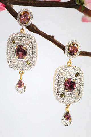 Sparkling American Diamond Dangle Earrings - SharePyar - 1