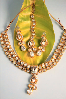 Stone Necklace Set with Mang Tika - SharePyar - 1