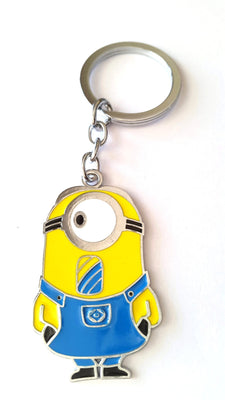Minion ( Stuart ) Metal KeyChain - Key Chains - SharePyar