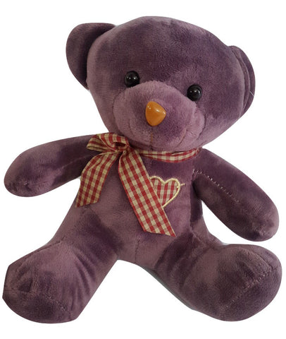Teddy Bear Soft Toy with a heart & bow - 7 inches - SharePyar - 1