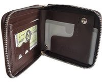 Teenage Leather Zip-Around Brown Purse