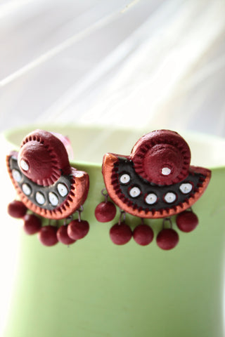 Terracotta Stud Earrings - SharePyar