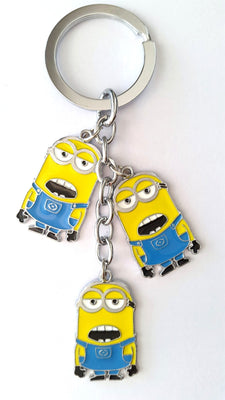 Three Minions Metal KeyChain - Key Chains - SharePyar