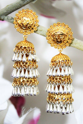 Three Tier Antique Jhumka - Jewellery - SharePyar