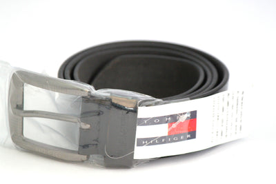 Tommy Hilfiger Leather Belt - Black - Belts - SharePyar