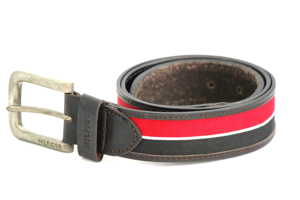 Tommy Hilfiger Leather Belt - Red & Black - SharePyar