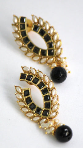 Traditional Antique Earrings, Black - SharePyar - 1