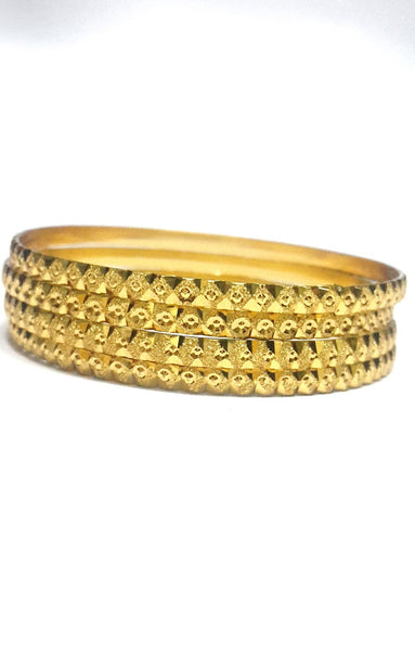 Traditional Gold Plated Bangles Set - SharePyar - 2