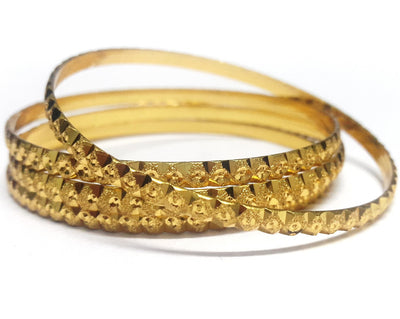 Traditional Gold Plated Bangles Set - Jewellery - SharePyar
