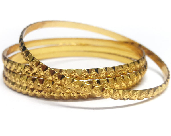Traditional Gold Plated Bangles Set - SharePyar - 1