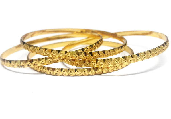 Traditional Gold Plated Bangles Set - SharePyar - 3