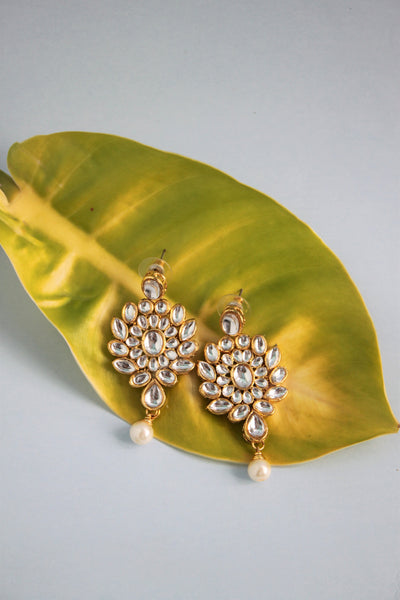 Traditional Kundan Drop Earrings - SharePyar - 2