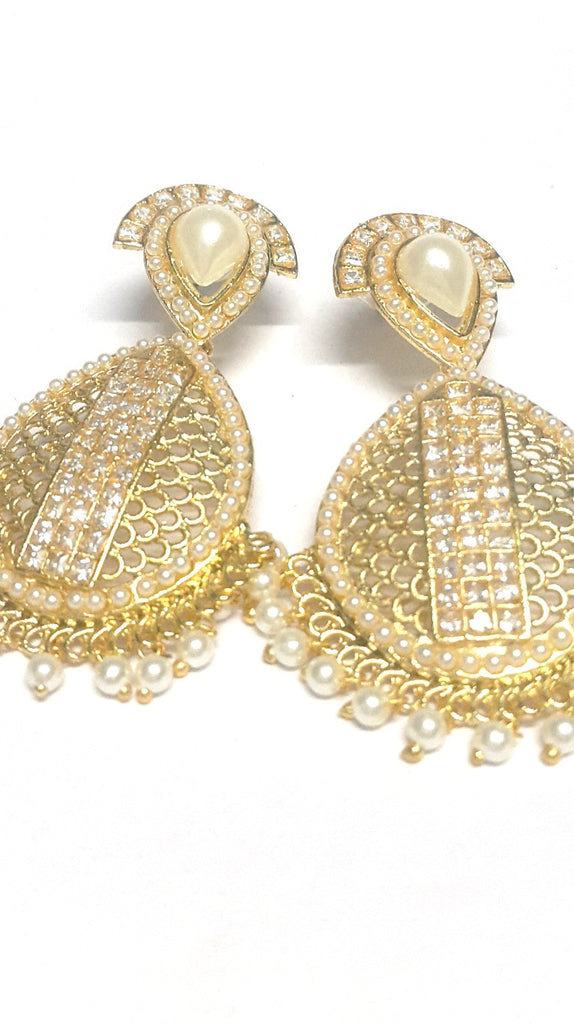 Traditional Polki Tear Drop Earrings - Jewellery - SharePyar