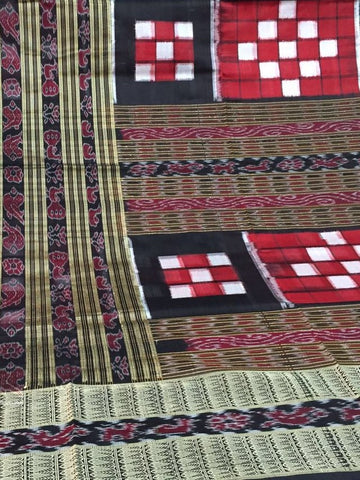 Traditional Saptapar Sambalpuri IKAT Silk Saree - SharePyar - 1