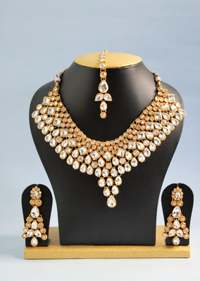 Traditional Stone Necklace Set - SharePyar - 2