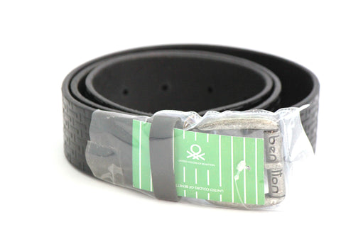 United Colors of Benetton Leather Belt - Black - SharePyar - 1