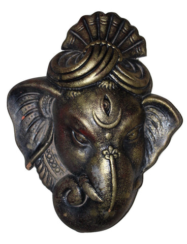 Wall Hanging Terracotta Ganesha Face - Crafts - SharePyar