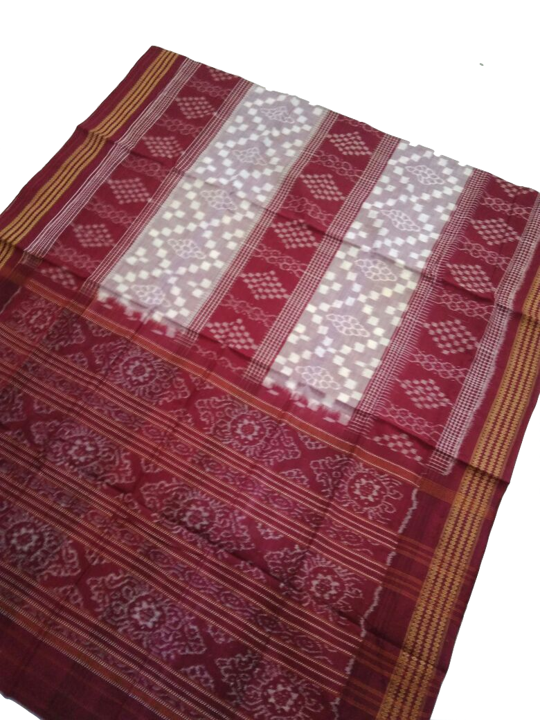Sambalpuri ikat Cotton Handloom Saree