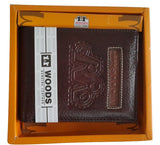 Woods Genuine Leather Two Fold Wallet, Brown - SharePyar - 4