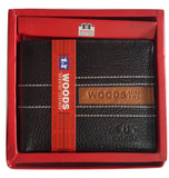Woods Genuine Leather Two Fold Wallet, Rugged Finish, Black - SharePyar - 2