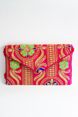 Zari Work Hand Made Ethnic Sling Bag - SharePyar - 1