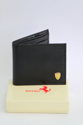 Ferrari Leather Wallet - Black - Wallets - SharePyar