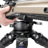 Leofoto YB-75LC 75 MM Tripod Leveling Head W Hook