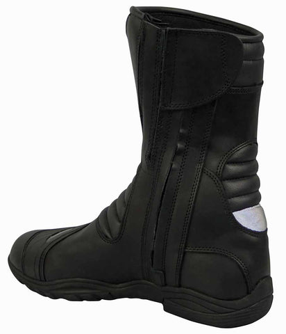 Image of Leather Motorcycle Boot With Shin Protection