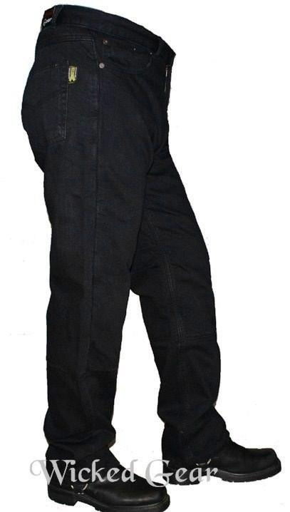 Black Denim Motorcycle Jeans With DUPONT™ KEVLAR® FIBER