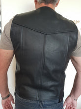 Load image into Gallery viewer, Genuine Leather Full Grain Motorcycle Vest