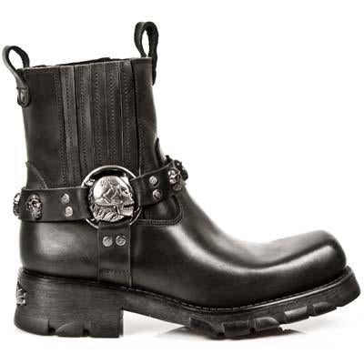New Rock Skull Harness Boot Made In Spain Intergral Stitching