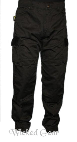 Cotton Twill Cargo Motorcycle Pants With DUPONT™ KEVLAR® FIBER