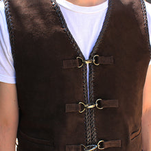 "Load image into Gallery viewer, Johnny Reb ""Gillies' Suede Leather Vest"