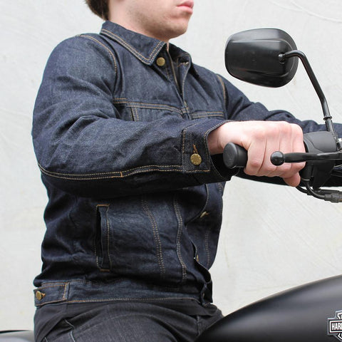 Image of Men's Glenbrook Indigo Denim Protective Jacket | DuPont™ Kevlar® Lined