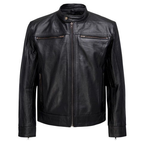 Image of Men's Great Ocean Leather Jacket