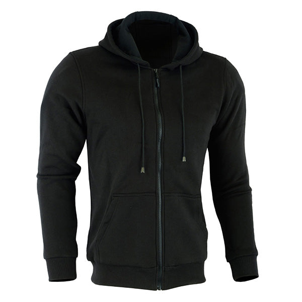 Johnny Reb 'hume' Protective-Motorcycle Fleece Full-zip Hoodie