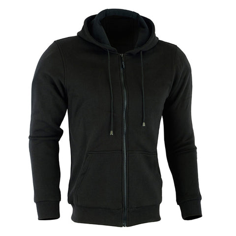Image of Johnny Reb 'hume' Protective-Motorcycle Fleece Full-zip Hoodie