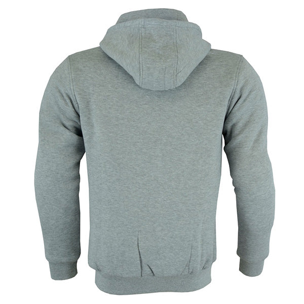 Johnny Reb 'hume' Protective-Motorcycle Fleece Hoodie-Grey Marle