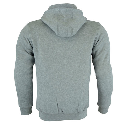 Johnny Reb 'hume' Kevlar®Motorcycle Fleece Hoodie-Grey Marle