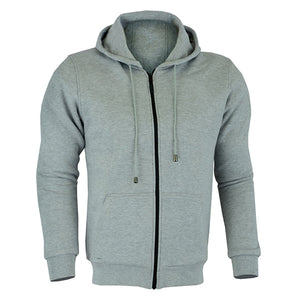 Johnny Reb 'hume' Kevlar® Motorcycle Fleece Full-zip Hoodie Grey Marle