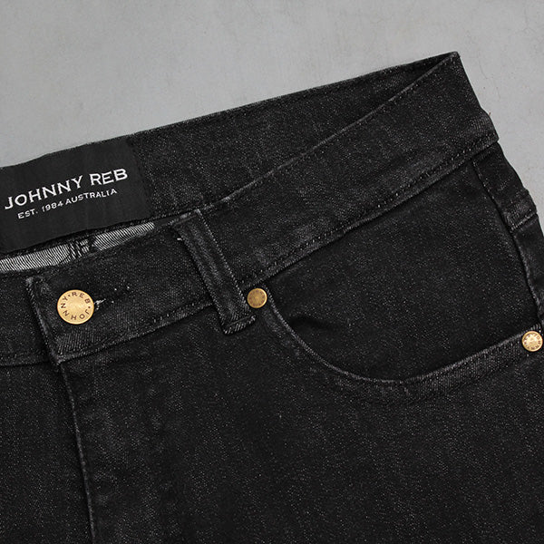 Johnny Reb Classic Fit Black Protective Jeans With Armour