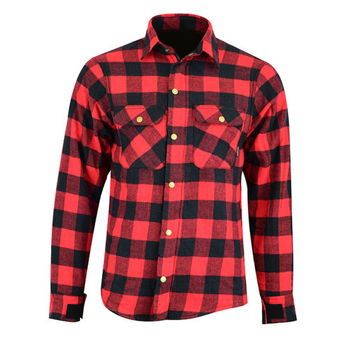 Johnny Reb 'waratah' Plaid Protective- Shirt-Red